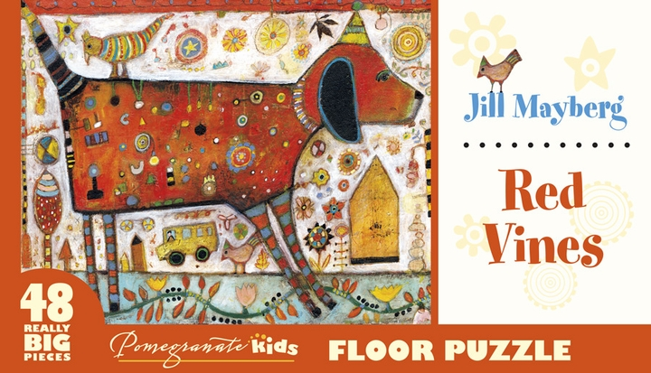 Jill Mayberg: Red Vines Floor Puzzle
