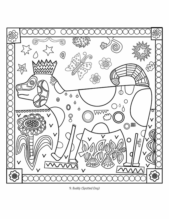 Jill Mayberg's Animal Friends Coloring Book