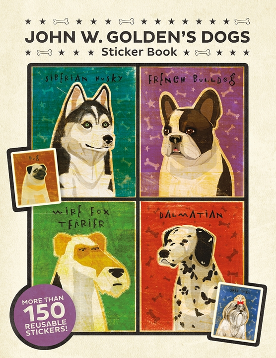 John W. Golden's Dogs Sticker Book