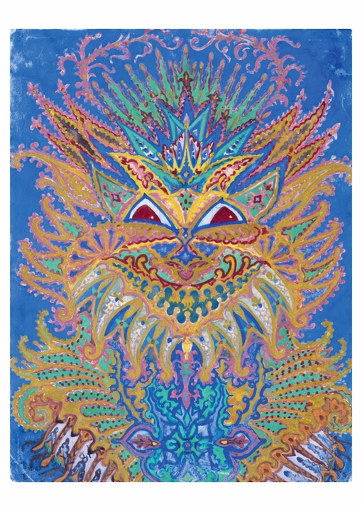 Louis William Wain: Kaleidoscope Cats VI Postcard