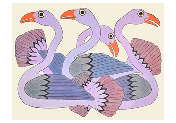 Kenojuak Ashevak: Swans at Sunset Birthday Card