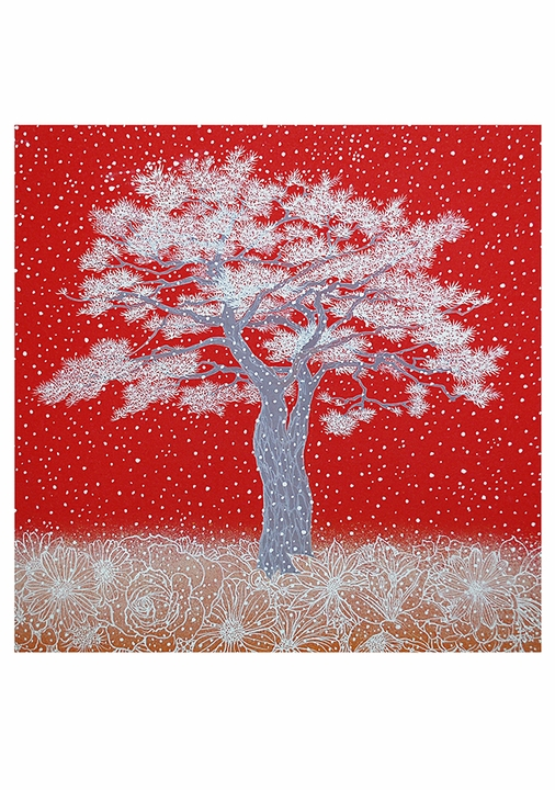 Kyung-Hwa Yu: Snow Flower—Pine Holiday Cards
