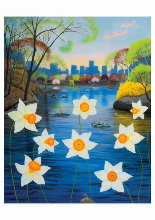 L. C. Armstrong: Dreamers over Daffodils Notecard
