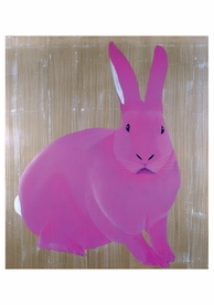 Thierry Bisch: Lapin Rose Notecard
