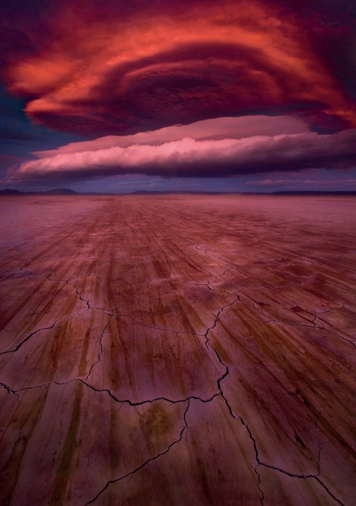 Lenticular Clouds Over the Alvord Desert Notecard