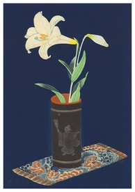 Lily in Bamboo Vase Notecard