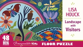 Lisa Houck: Landscape with Visitors Floor Puzzle