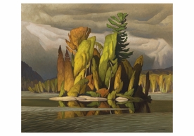 A. J. Casson: Little Island Notecard
