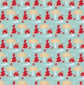Little Red Riding Hood Designer Gift Wrap