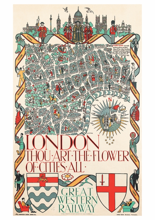 London, Thou Art the Flower of Cities All Postcard