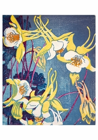 Mabel Royds: Columbines Notecard