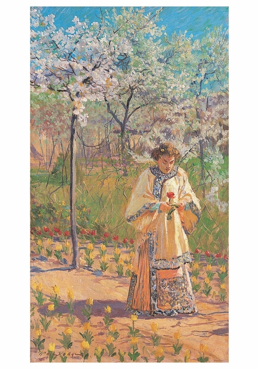 MacMonnies's Garden (The Artist's Wife in Giverny) Notecard