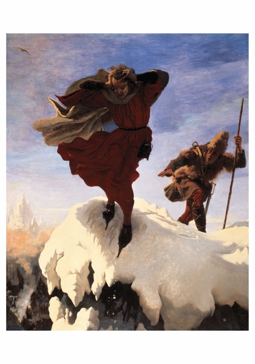 Ford Madox Brown: Manfred on the Jungfrau Notecard