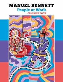 Manuel Bennett: People at Work Coloring Book