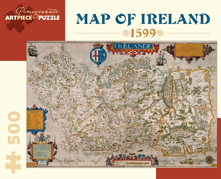 Map of Ireland, 1599 500-piece Jigsaw Puzzle