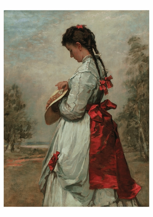 William Morris Hunt: Marguerite Notecard