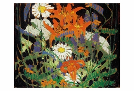 Marguerites, Wood Lilies and Vetch Magnet