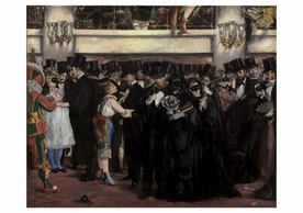 Edouard Manet: Masked Ball at the Opera Notecard
