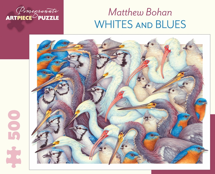 Matthew Bohan: Whites and Blues 500-Piece Jigsaw Puzzle