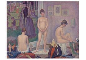 Georges Seurat: Models Notecard