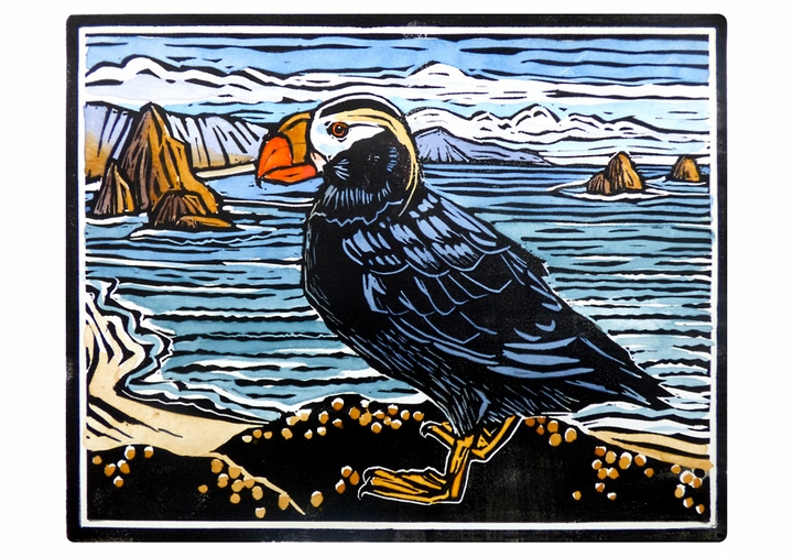 Molly Hashimoto: Tufted Puffin Notecard