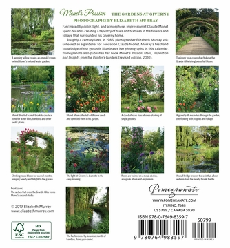 Monet's Passion: The Gardens at Giverny 2020 Mini Wall Calendar