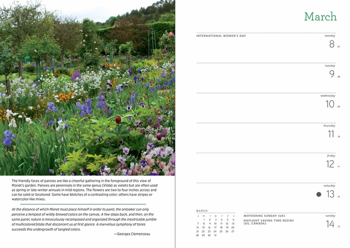 Monet's Passion: The Gardens at Giverny 2021 Engagement Calendar
