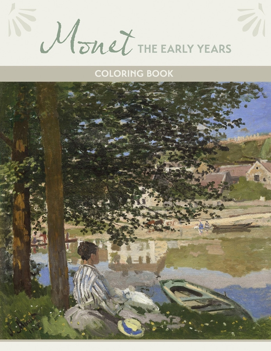 Monet: The Early Years Coloring Book