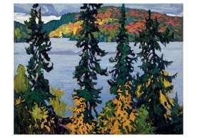 Lawren S. Harris: Montreal River Notecard