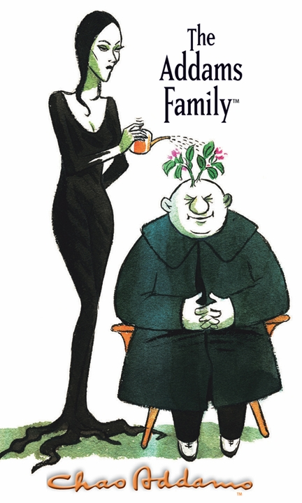 """Charles Addams: Morticia and Uncle Fester 3 x 5"""" Notepad"""
