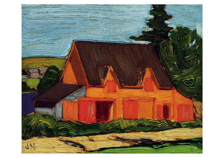 Nova Scotia Barn Postcard