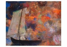 Odilon Redon: Flower Clouds Notecard