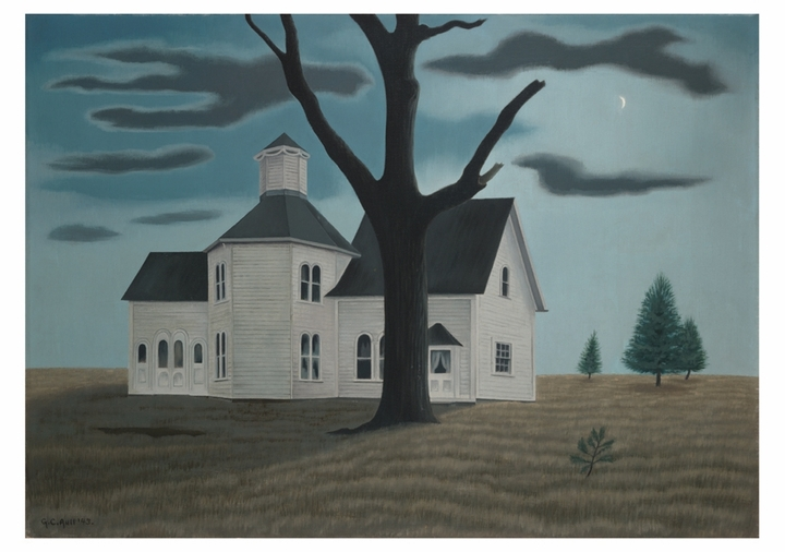 George C. Ault: Old House, New Moon Notecard