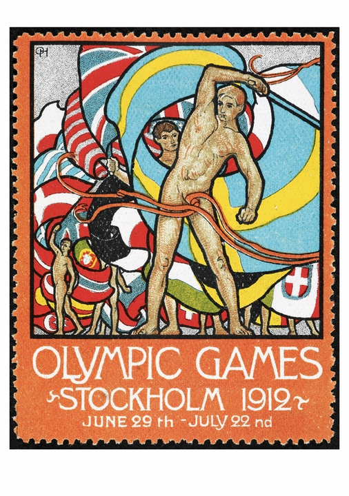 Olympic Stamp Postcard