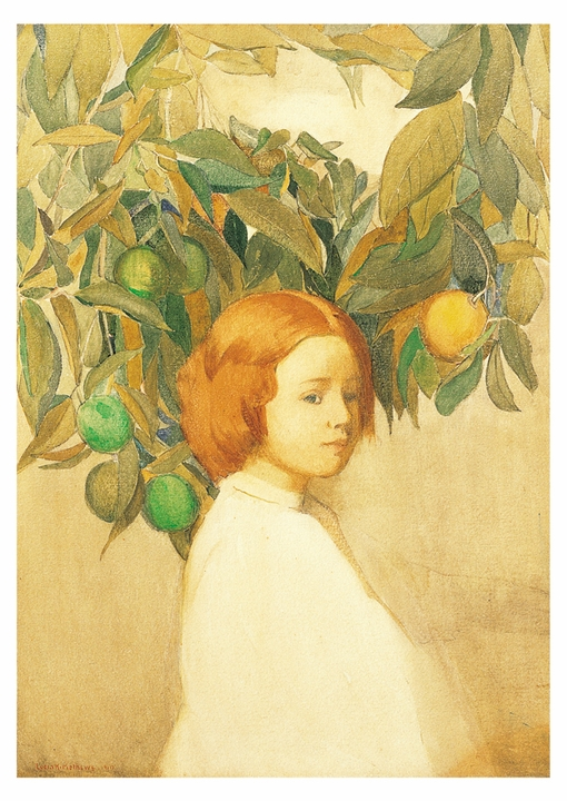 Oranges (Portrait of a Red Haired Girl) Postcard
