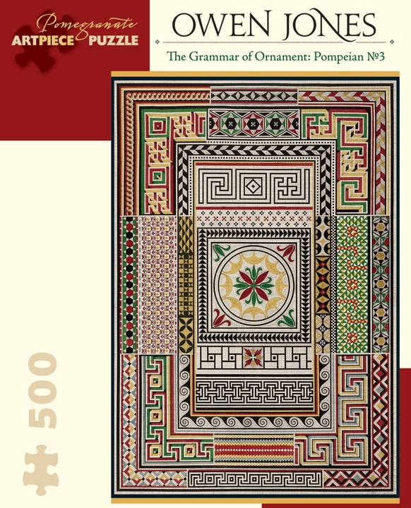 Owen Jones: The Grammar of Ornament: Pompeian No. 3 500-piece Jigsaw Puzzle