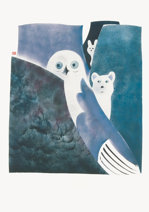 Osuitok Ipeelee: Owl, Fox and Hare Legend Notecard