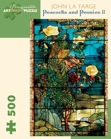John La Farge: Peacocks and Peonies II 500-piece Jigsaw Puzzle