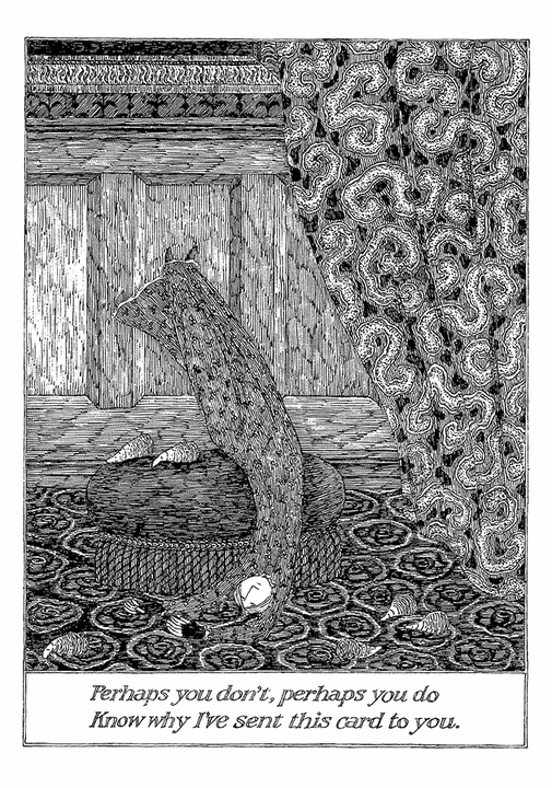 Edward Gorey: Perhaps You Don't Notecard