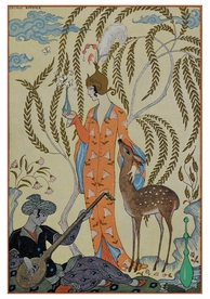 George Barbier: Persia Notecard