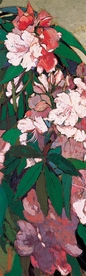 Lucia K. Mathews: Pink Rhododendrons #2 Bookmark