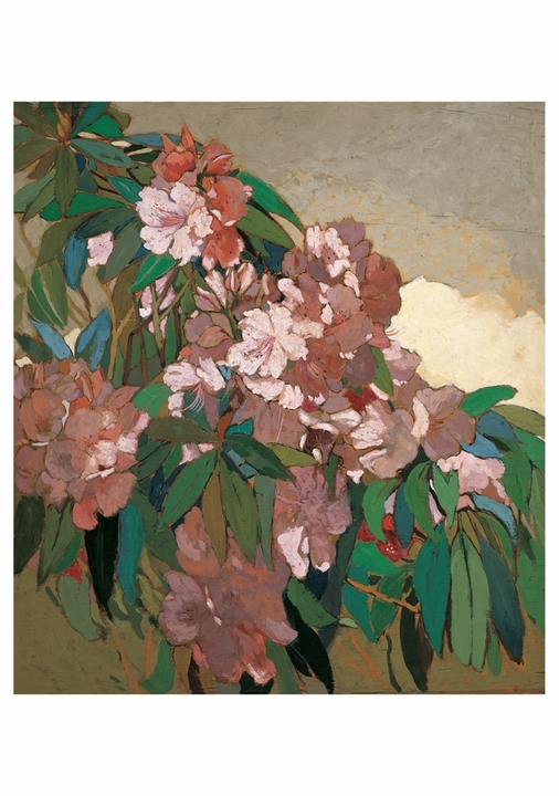 Lucia K. Mathews: Pink Rhododendrons #2 Notecard