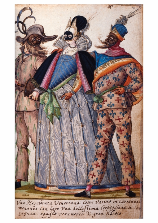 Plate from Book of Italian Costumes Postcard