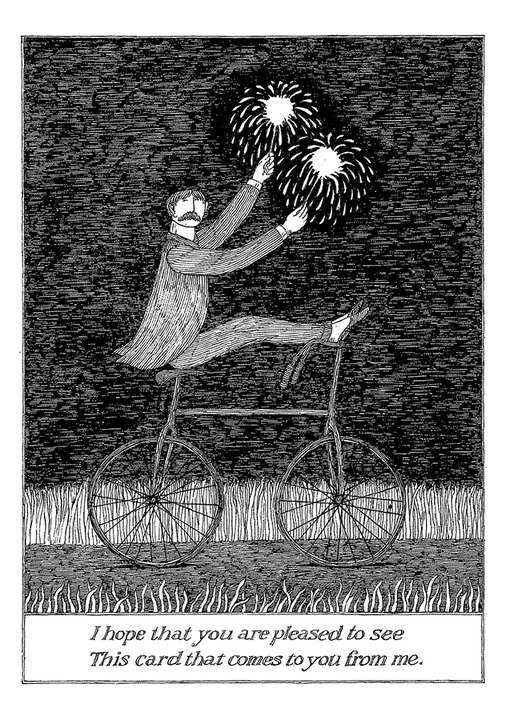 Edward Gorey: Pleased To See Notecard