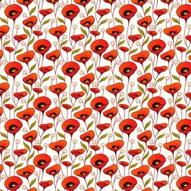Poppies Profusion Designer Gift Wrap
