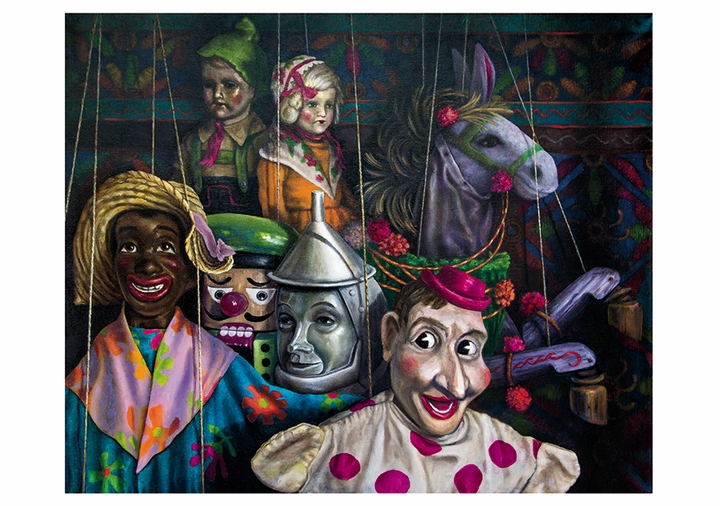 Jay Burch: Puppets and Marionettes Notecard