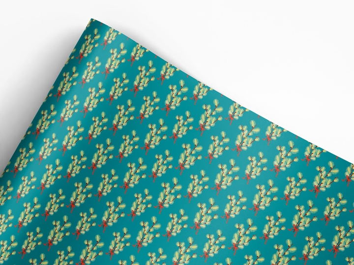 Pussy Willow Designer Gift Wrap