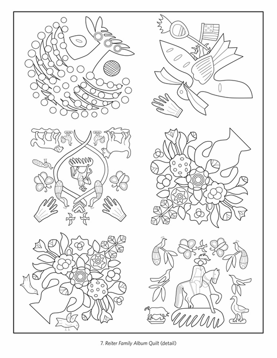 Quilts Coloring Book