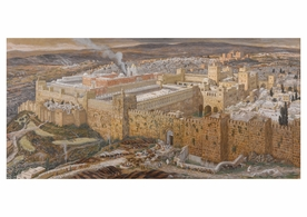 James Tissot: Reconstruction of Jerusalem and the Temple of Herod Postcard