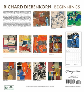Richard Diebenkorn: Beginnings 2020 Wall Calendar